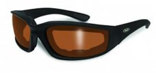 Global Vision Eyewear Kickback Sunglasses with EVA Foam, Driving Mirror Lens