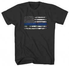 Tee Shirt – Thin Blue Line Flag