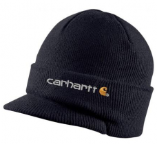 Carhartt Black Knit Hat with Visor - A164