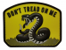 PVC Morale Patch – Yellow Don't Tread