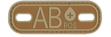 PVC Morale Patch – Blood Type AB+