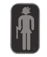 PVC Morale Patch – Tactical Restroom Girl