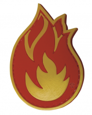 PVC Morale Patch – Fireball
