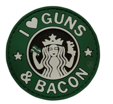 PVC Morale Patch – Guns & Bacon