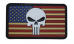 PVC Morale Patch – Vintage United States Flag /Punisher