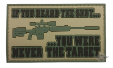 PVC Morale Patch – Heard The Shot