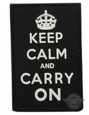PVC Morale Patch – Keep Calm And Carry On