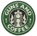 PVC Morale Patch – Guns & Coffee