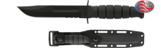 Short Black KA-BAR, Serrated