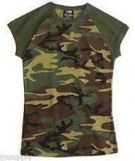 Rothco Short Sleeve Camo Raglan Tee Shirt